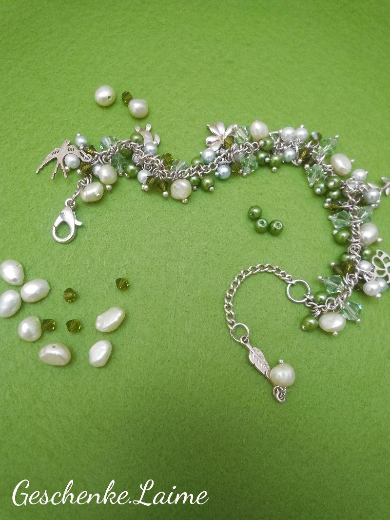 - Armband mit Süßwasserperlen,Glasperlen und Silberanhänger.Schmuckdesign.Perfekte Geschenk für einen besonderen Menschen! - Armband mit Süßwasserperlen,Glasperlen und Silberanhänger.Schmuckdesign.Perfekte Geschenk für einen besonderen Menschen!