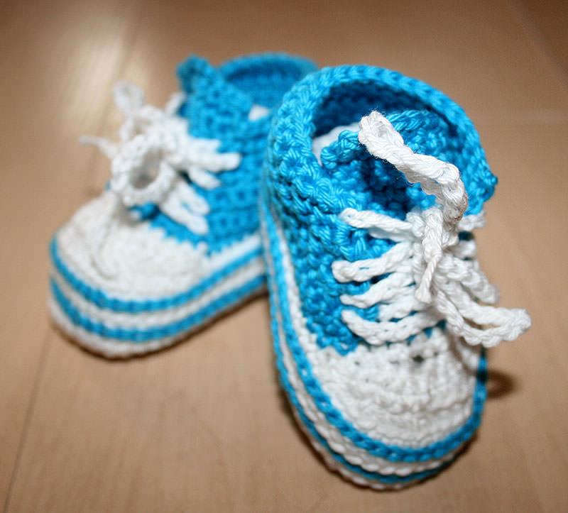 - Süße Baby Chucks in Petrol für Jungs, 0 - 3 Monate - Süße Baby Chucks in Petrol für Jungs, 0 - 3 Monate