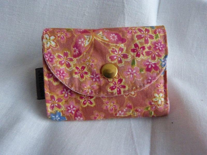 0a13f85096f93 Taschen   kleine Geldbörse mit Reißverschlussfach aus Stoff altrosa ...