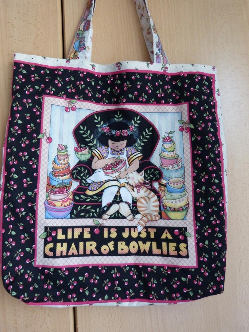 - Wendetasche / Einkaufstasche aus Baumwollstoff - bunt mit schönem Motiv  - Wendetasche / Einkaufstasche aus Baumwollstoff - bunt mit schönem Motiv