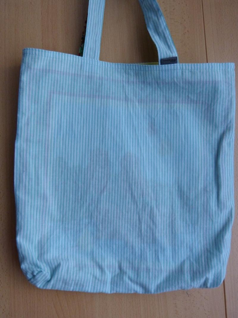 Kleinesbild - Wendetasche / Einkaufstasche aus Baumwollstoff - helle bunte Blumenmuster