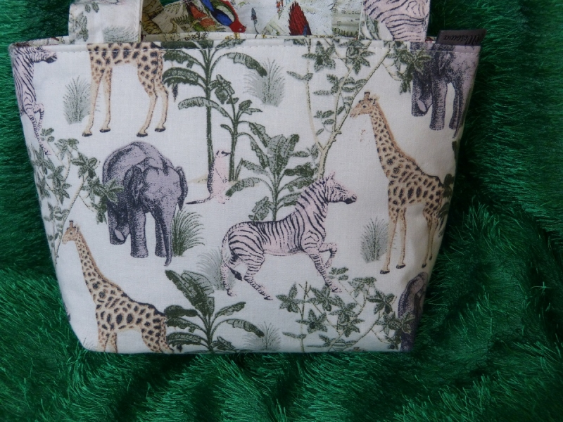- Kinder Einkaufstasche mit wilden Tieren und Vögeln - Kinder Einkaufstasche mit wilden Tieren und Vögeln