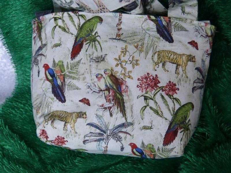 Kleinesbild - Kinder Einkaufstasche mit wilden Tieren und Vögeln