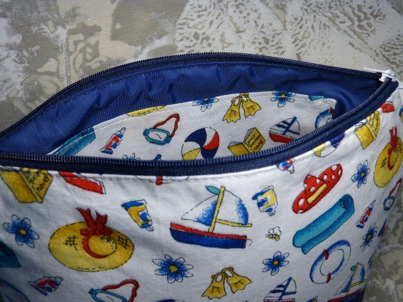 Kleinesbild - Kulturtasche aus Baumwollstoff  Strand, Sommer, Meer