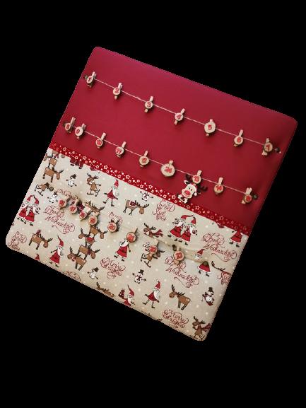 Kleinesbild - Adventskalender 70x70cm vers. weihnachtliche Motive zum selbstbefüllen - Pinnwand