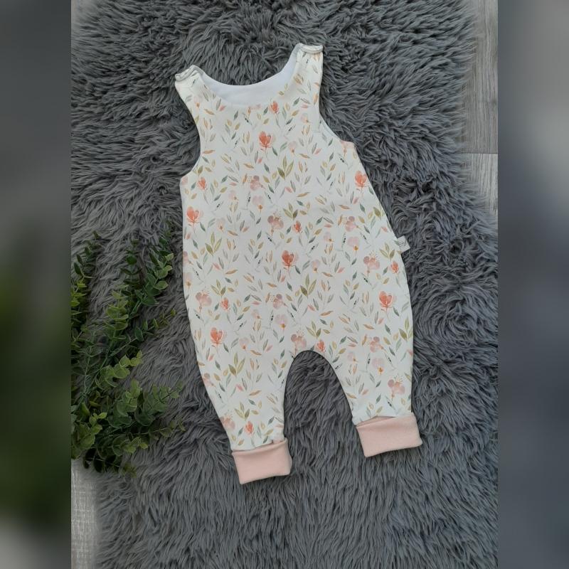 - Newborn Strampler Baby Gr 56 - Jersey Flowers Pastell  - Newborn Strampler Baby Gr 56 - Jersey Flowers Pastell