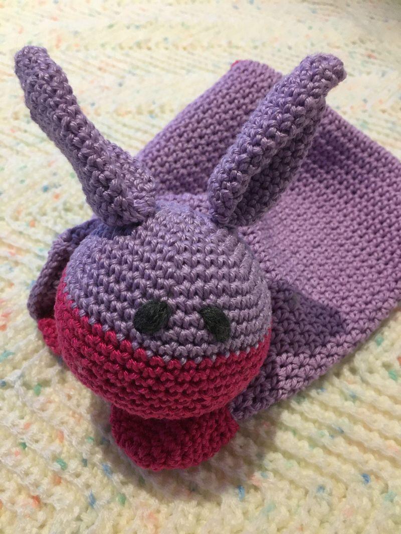Kleinesbild - Schmusetuch für die Kleinen mit Baumwolle gehäkelt