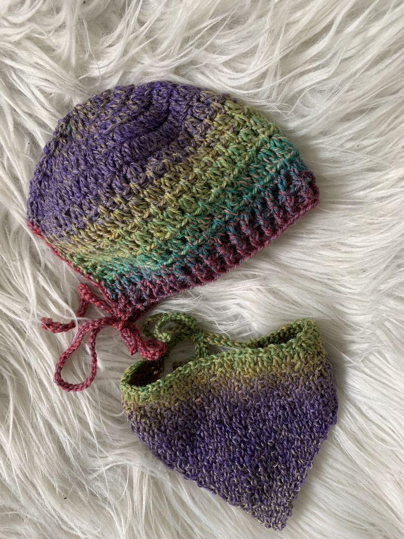 - Babymütze mit passendem Tuch 0 - 3 Monate - Babymütze mit passendem Tuch 0 - 3 Monate