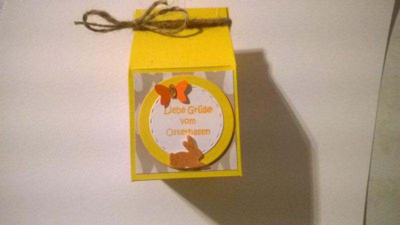 - Milchtüte als Geschenkverpackung zu Ostern aus Cardstock - Milchtüte als Geschenkverpackung zu Ostern aus Cardstock