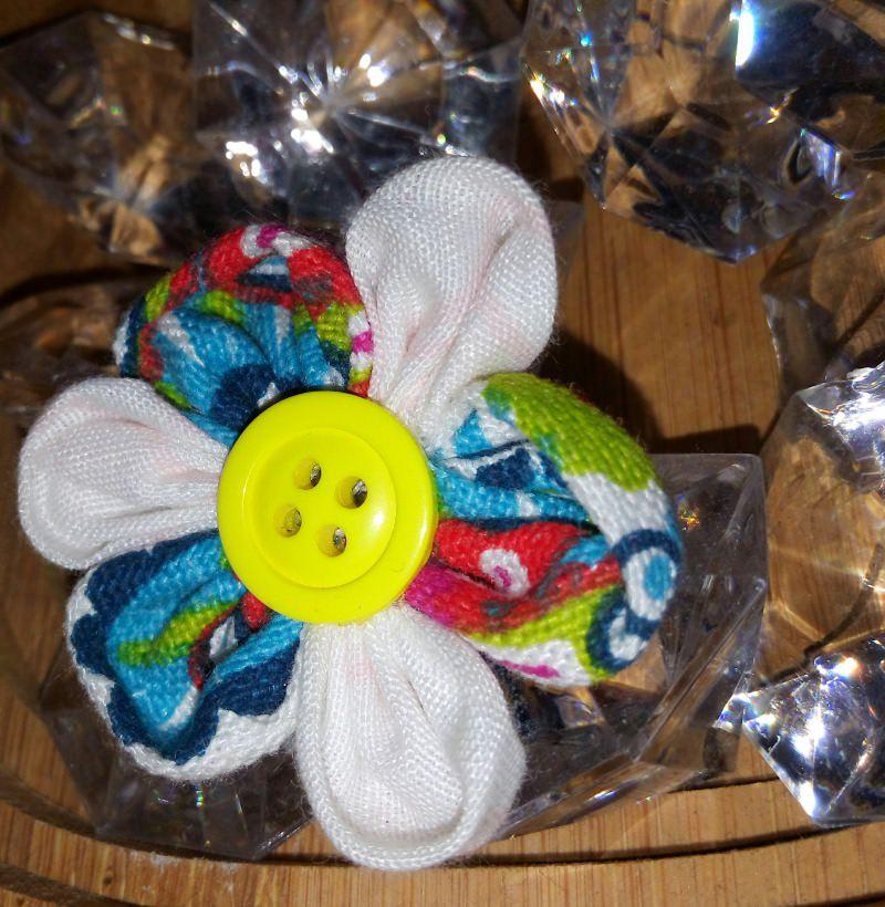 Kleinesbild - Handgemachte selbst genähte bunte Haarspangen - Blume
