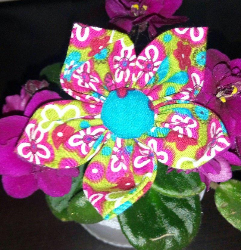 Kleinesbild - Handgemachte selbst genähte tolle Haarspangen - Blume