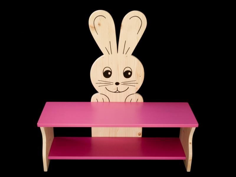 kinderm bel kinderbank hase rosa oder mit wunschfarbe kindersitzbank aus holz schuhbank. Black Bedroom Furniture Sets. Home Design Ideas
