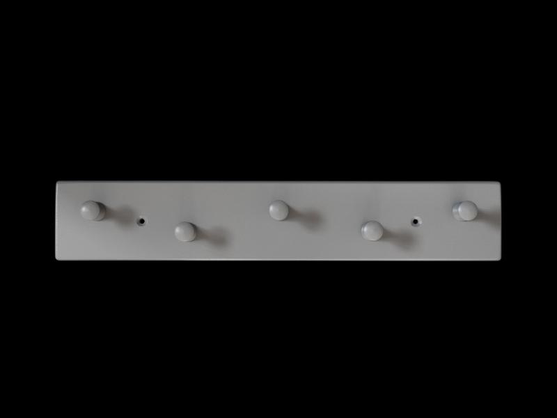 Kleinesbild - Garderobenleiste aus Holz mit Wunschfarbe 5 Haken (Garderobenhaken Garderobe)