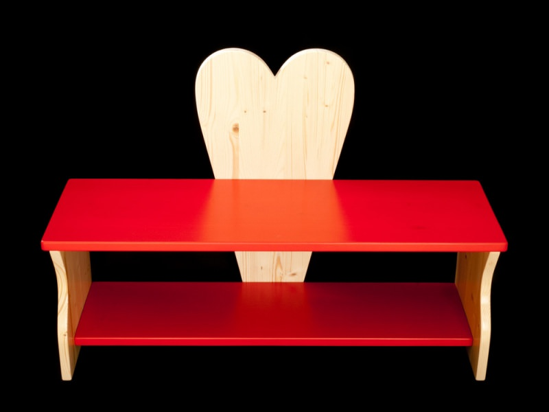 Kinderm bel kinderbank herz rot oder mit wunschfarbe kindersitzbank aus holz schuhbank - Kindersitzbank holz ...