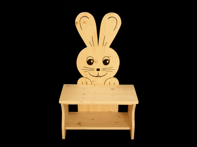 kinder kinderbank hase aus holz sitzbank f r kinder. Black Bedroom Furniture Sets. Home Design Ideas