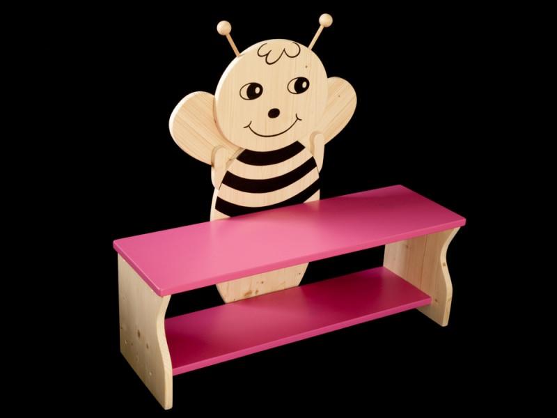 Kinder kinderbank biene mit wunschfarbe komplett lackiert kindersitzbank aus holz schuhbank - Kindersitzbank holz ...
