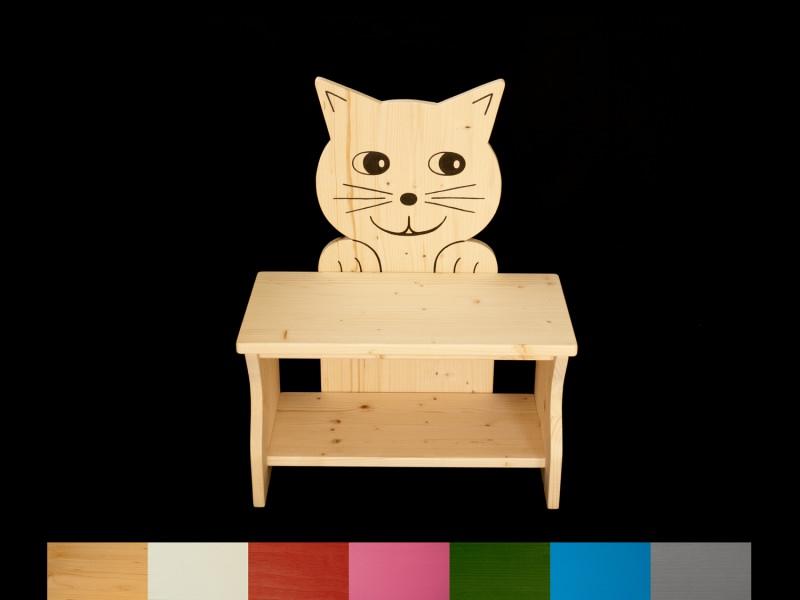- Kinderbank Katze mit Wunschfarbe komplett lackiert (Kindersitzbank aus Holz, Schuhbank, Sitzbank für Kinder) - Kinderbank Katze mit Wunschfarbe komplett lackiert (Kindersitzbank aus Holz, Schuhbank, Sitzbank für Kinder)