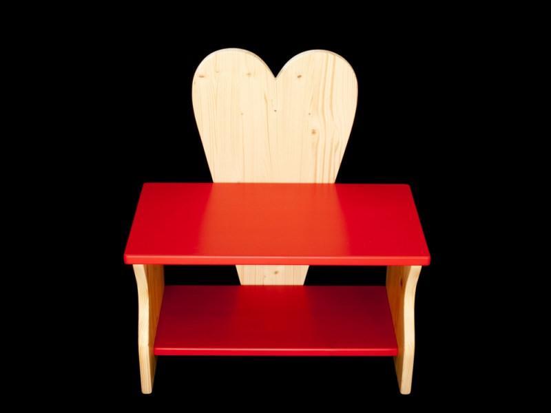 kinder herzbank kinderbank herz mit wunschfarbe auf sitzfl che schuhablage kindersitzbank. Black Bedroom Furniture Sets. Home Design Ideas