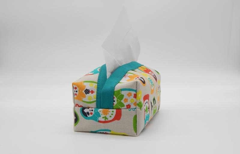 Kleinesbild - Taschentuchbox für daheim aus Baumwolle