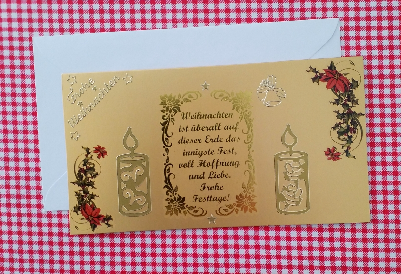 - 3D Weihnachtskarte,  Doppelkarte, Handarbeit                                                   - 3D Weihnachtskarte,  Doppelkarte, Handarbeit
