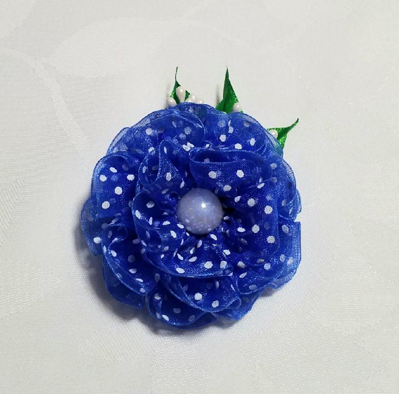 Kleinesbild - Haarspange, Haarklammer, Kanzashi Blume, Haarschmuck
