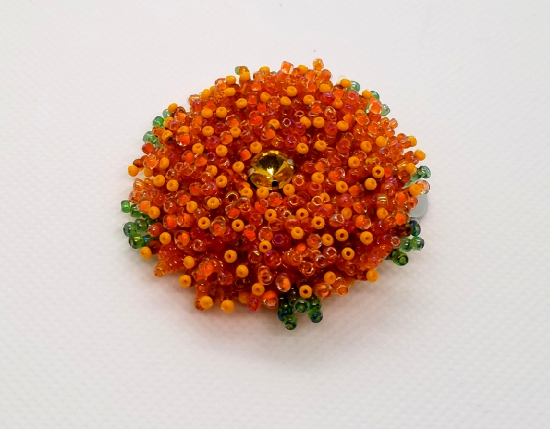 Kleinesbild - Haarspange, Haarclips, Haarklammer, Glasperlen Blume, Haarschmuck