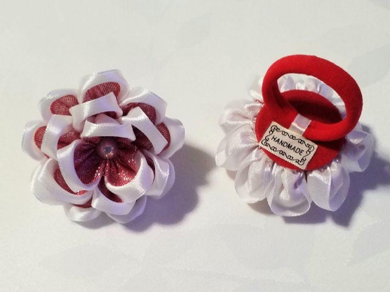 Kleinesbild - Haarspange, Haargummi, Kanzashi Blume, Haarschmuck