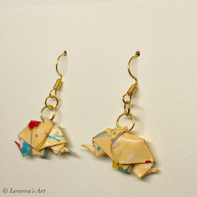 - Origami Elefant Ohrringe, Japanisch, Handgemacht Schmuck, Perfektes Geschenk, bunt     - Origami Elefant Ohrringe, Japanisch, Handgemacht Schmuck, Perfektes Geschenk, bunt