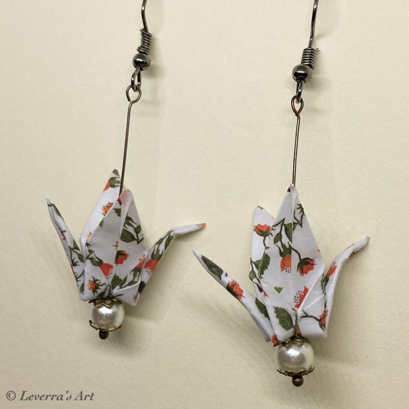 - Origami Kranich Ohrringe, Japanisch, Handgemacht Schmuck, Perfektes Geschenk, bunt  - Origami Kranich Ohrringe, Japanisch, Handgemacht Schmuck, Perfektes Geschenk, bunt