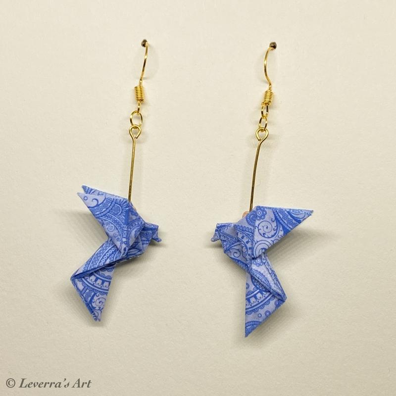 - Origami Taube Ohrringe, Japanisch, Handgemacht Schmuck, Perfektes Geschenk, bunt  - Origami Taube Ohrringe, Japanisch, Handgemacht Schmuck, Perfektes Geschenk, bunt