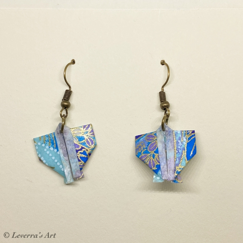 - Origami Kimono Ohrringe, Japanisch, Handgemacht Schmuck, Perfektes Geschenk, bunt  - Origami Kimono Ohrringe, Japanisch, Handgemacht Schmuck, Perfektes Geschenk, bunt