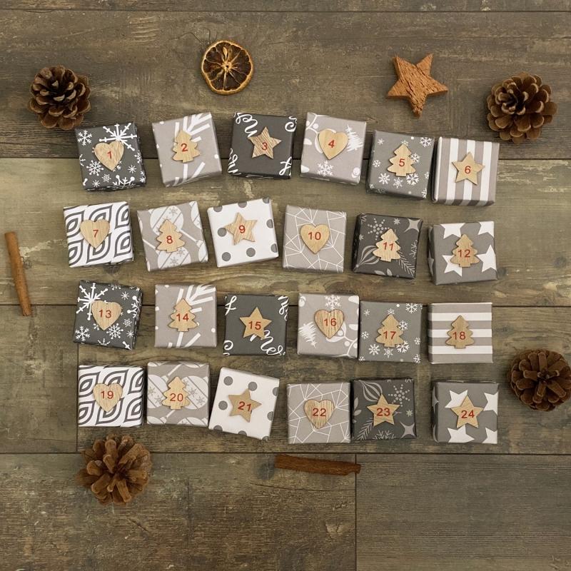 - Origami Adventskalender, Partnerkalender, 24 Hand gefaltete Boxen zum selber füllen als DIY Geschenk ODER bereits gefüllt von Leverra