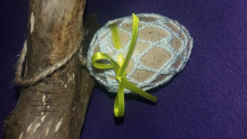 Kleinesbild - Eingehäkelte Ostereier 8er Set