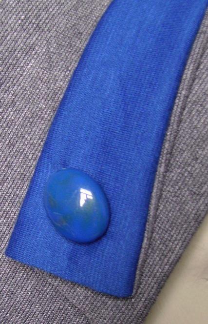 Kleinesbild - Elegantes Stirnband in Grau und Blau