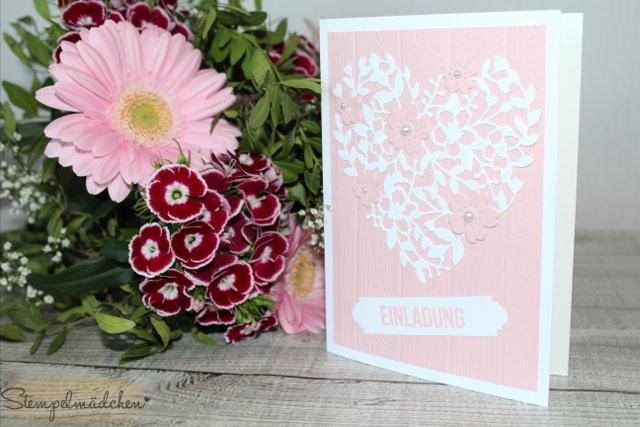 - Handgefertigte Einladungskarte / Glückwunschkarte zur Hochzeit, Geburtstag, Geburt oder Taufe - Handgefertigte Einladungskarte / Glückwunschkarte zur Hochzeit, Geburtstag, Geburt oder Taufe