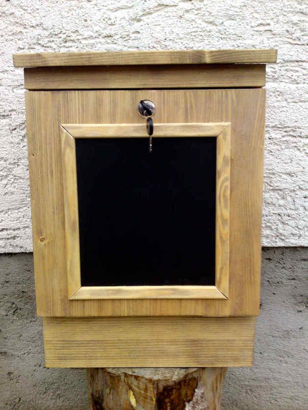 - Holzbriefkasten, Holzpostkasten Memo Antik - Holzbriefkasten, Holzpostkasten Memo Antik