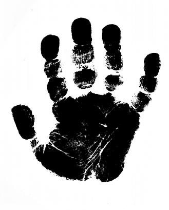 Kleinesbild - Ein schöner Handabdruck, Schlüsselanhänger, Fußabdruck, Symbol, Erinnerungskeychain, Hundetatze