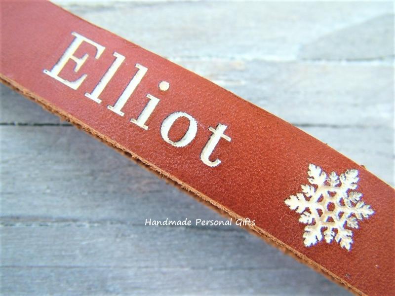 Kleinesbild - Schlüsselanhänger aus Leder, Vollständig anpassbar mit Namen oder kleinen Text
