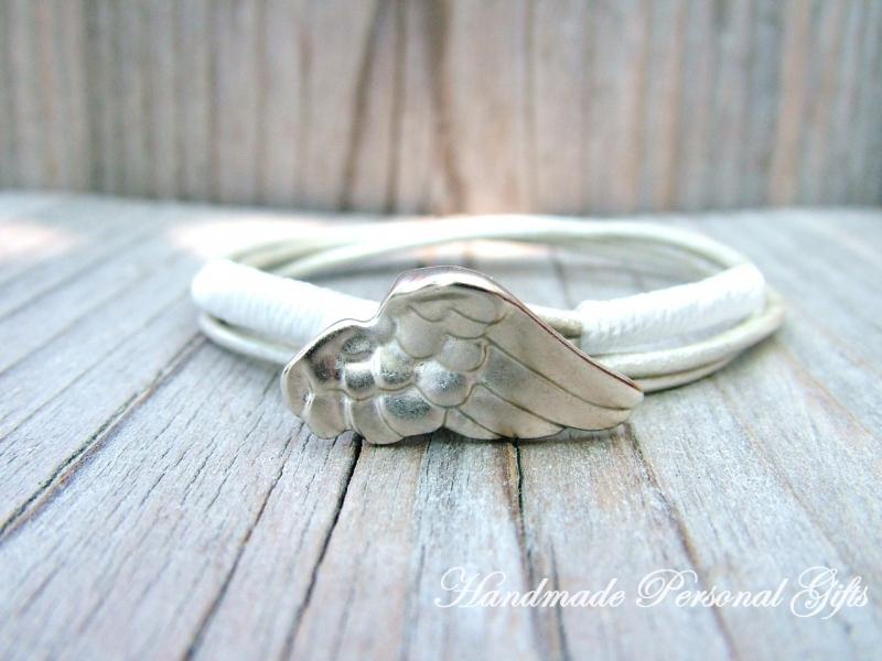 Kleinesbild - Armband für Mutter und Kind, Flügel, 2 stück, Muttertag, Taufe, einzigartiges Geschenk, Schützengel, benützerdefiniert