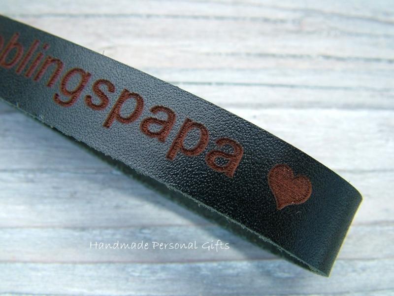 Kleinesbild - Schlüsselanhänger aus Leder, Vollständig anpassbar mit Namen oder kleinen Text, Lieblingspapa, benützerdefiniert,  Musiknote, Musikschlüssel