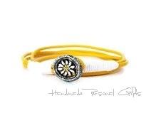 Kleinesbild - Lederhalskette mit einem schönen Edelweiß als Hingucker, Edelweis, Blume, Blumenhalskette, als Armband zu verwenden, Lederarmband,benützerdefinierte Halskette