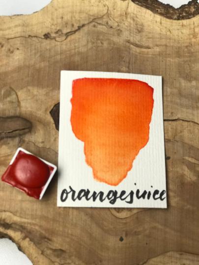 - Orange Juice Watercolor, Aquarell, halber Topf - Orange Juice Watercolor, Aquarell, halber Topf