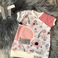- Süsses Longshirt / Shirt für Mädchen Gr.62/68 ``Birdy`` - Süsses Longshirt / Shirt für Mädchen Gr.62/68 ``Birdy``