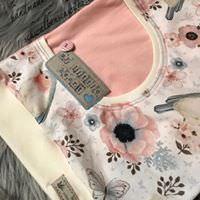 Kleinesbild - Süsses Longshirt / Shirt für Mädchen Gr.62/68 ``Birdy``