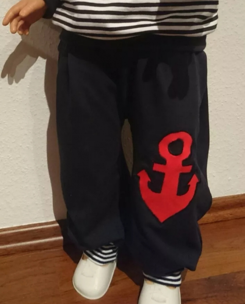 Kleinesbild - Set aus Langarmshirt und Pumphose -kleiner  Pirat - in den Gr.74/80 bis 122/128  aus Jersey