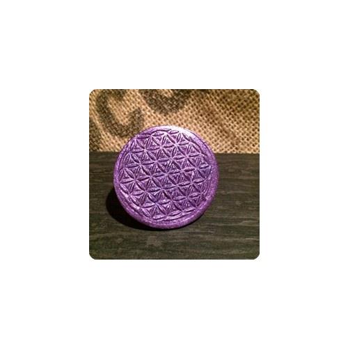 - Handmade Brosche oder Anstecker – Symbol der Blume des Lebens   - Handmade Brosche oder Anstecker – Symbol der Blume des Lebens
