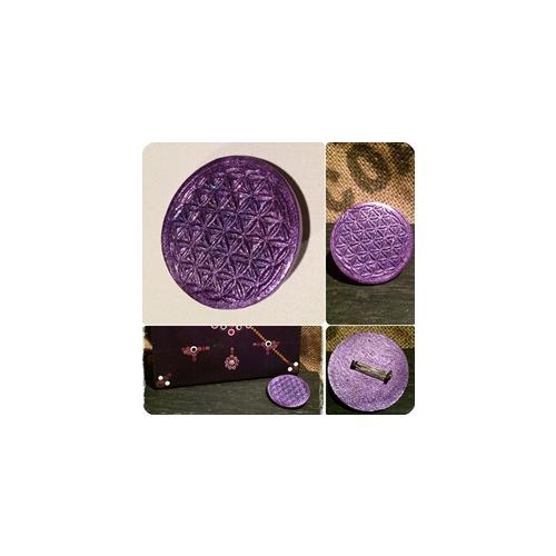Kleinesbild - Handmade Brosche oder Anstecker – Symbol der Blume des Lebens