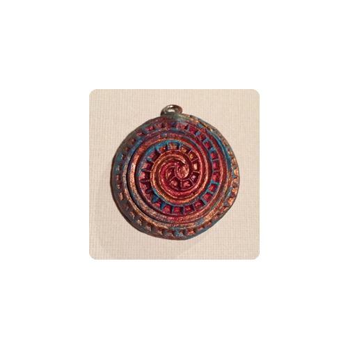 Kleinesbild - Handmade Symbolanhänger - Die galaktische Spirale - Schmuck für jeden Tag ^^