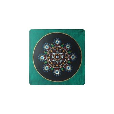 - Handgepunktetes Mandala in Acryl - Maße: 30 x 30 cm - Handgepunktetes Mandala in Acryl - Maße: 30 x 30 cm