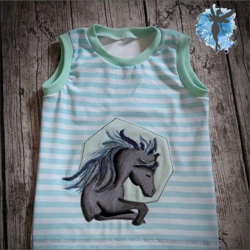 Kleinesbild - UNICORN | HORSE be wild | Applikationsvorlage